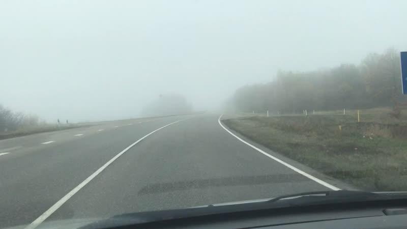 🍂 осень дорога в туман