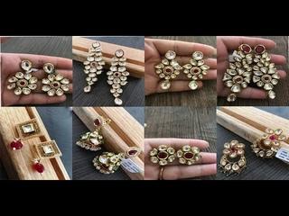 Latest Kundan Earrings Designs