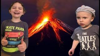 Делаем опыт извержение вулкана Doing volcanic eruption experience