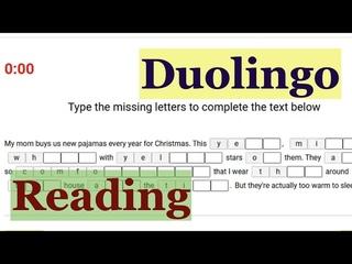 Duolingo Reading: заполняем пропуски в словах вместе - РЕАЛЬНЫЕ задания из Дуолинго! №11