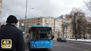 64 маршрут автобуса.  год. Москва.