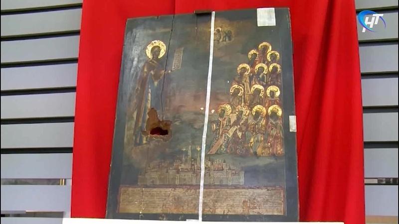 Новгородцы могут увидеть уникальную икону, пережившую оккупацию