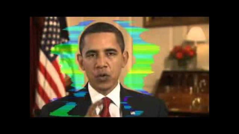 Виброизображение Барака Обамы обращение к американцам