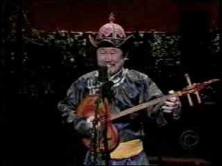 Kongar-ol Ondar on David Letterman's Late Show