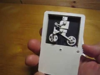 Kinetic Card - card type paper automata