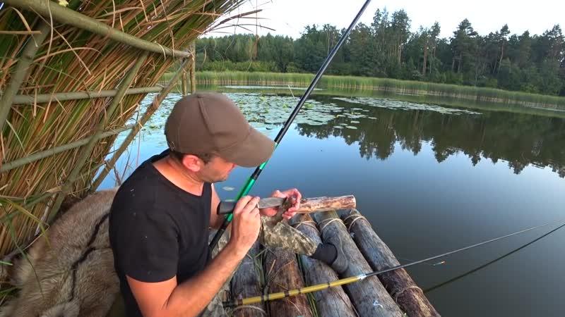 Vitalik Ignatyuk 24 Часа на плоту Ловлю рыбу Готовлю уху Построил шалаш на плоту
