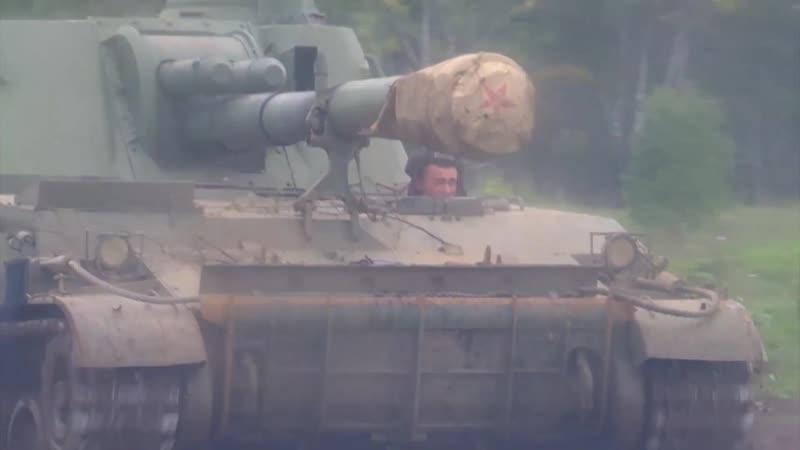 Учение с артиллерийскими подразделениями танковой дивизии ЦВО на полигоне Чебаркуль.