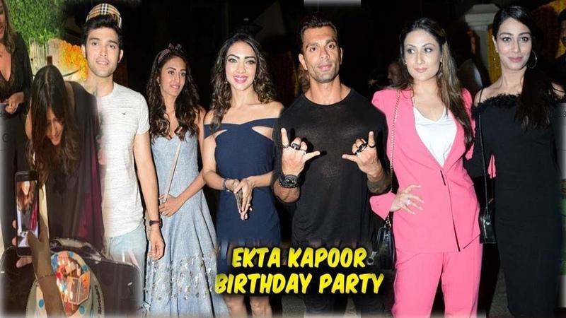 Ekta Kapoor's Grand Birthday Party   Full Event   Sidharth, Nushrat, Karan Patel, Parth Erica