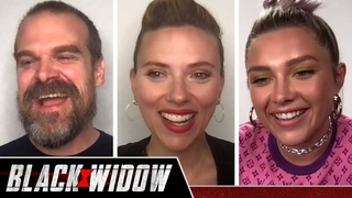 """The """"Black Widow"""" Cast Plays Who's Who"""