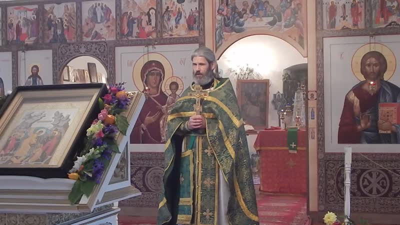протоиерей Александр Мухорин с проповедью