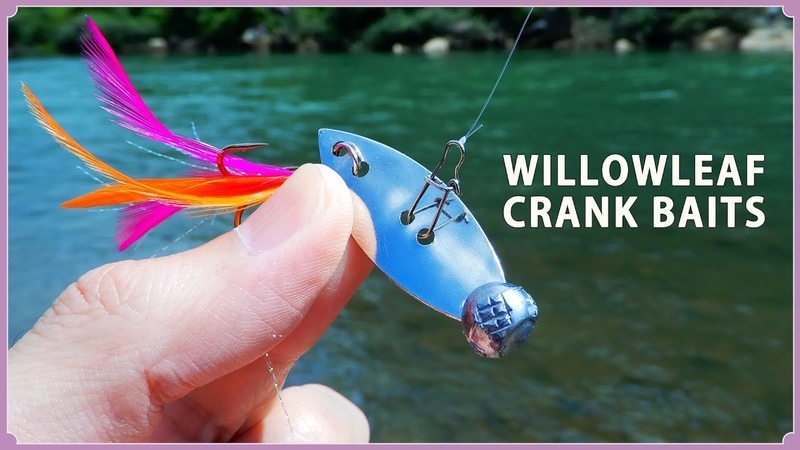 How to make a Metal baits using willow leaf blades./ウィローリーフブレードで自作するメタル系クランクベ1
