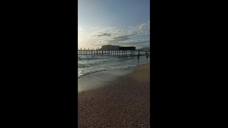 Пляж Тосмур в Алании 30 октября⛱🌿🌊☀️💙😍