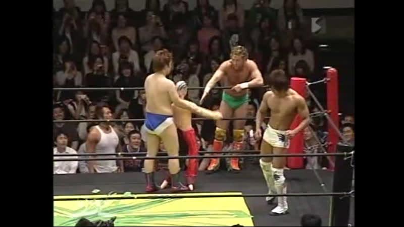 Kenny Omega Kota Ibushi vs Danshoku Dino Yoshihiko DDT Max Bump 04 05 2009
