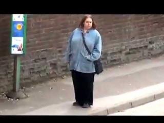 Woman dancing at bus stop (ORIGINAL) Eastleigh's Got Talent