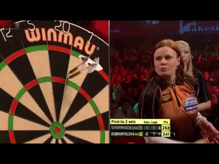 Anastasia Dobromyslova vs Fallon Sherrock (BDO World Darts Championship 2014 / Quarter Final)