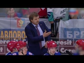 Знарок грозит шведам Хоккей Россия - Швеция 3-1 Чемпионат Мира 2014