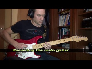 Josep suller recording the backing track (bass and main guitar) of you could be mine, by guns and roses