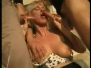 XXXHomemade German video Hot mom takes son and his friendXXX