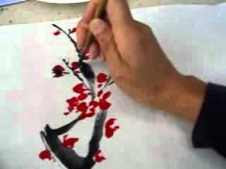 Каллиграфия. Цветущая ветвь