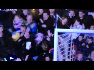Premier League - Yaya Toure accidentally hits young fan in the crowd with a shot vs QPR