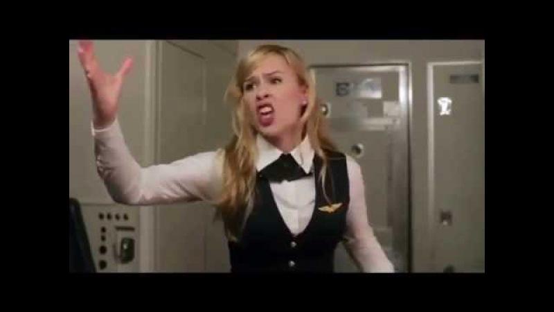 Стюардесса рассказывает тупым пассажирам почему надо выключать электронные приборы на борту самолёт