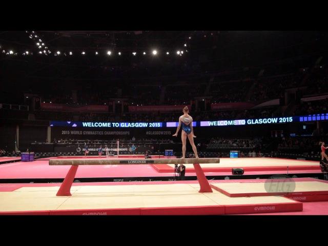 KOMOVA Viktoriia RUS 2015 Artistic Worlds Qualifications Balance Beam