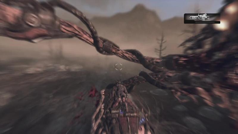 Gears of War 2 15 Оседлав Ривера и наказывая Скорджа