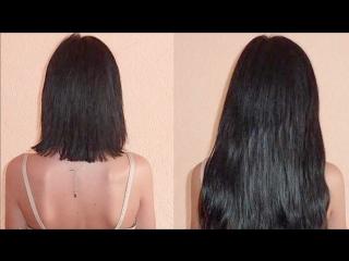 Как крепить волосы на заколках , накладные пряди