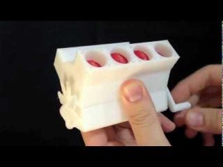 3D Printed V8 Engine (Articulating Model)