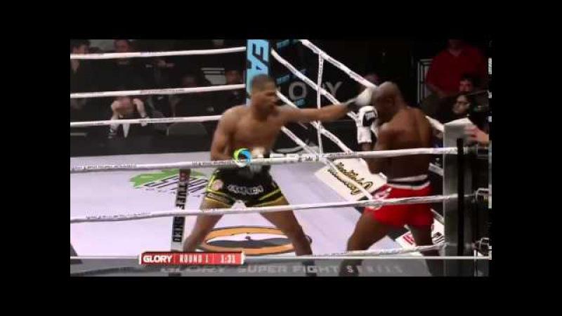Красивый и динамичный бой на турнире GLORY 19 ( Ambang vs.Richards)