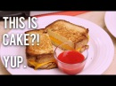 How To Cake A GRILLED CHEESE CAKE! Pound cake, modeling chocolate and berry coulis!