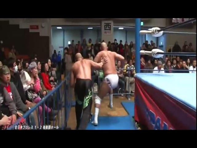 """Wild Burning"" Jun Akiyama Takao Omori c vs Dark Kingdom"" KENSO Mitsuya Nagai AJPW"