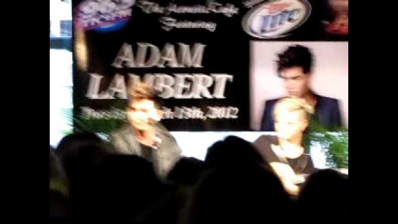 Adam Lambert Tommy Ratliff 96 5 TIC event The Russian Lady Harford CT 3 13 12 Fan Q A Part 2