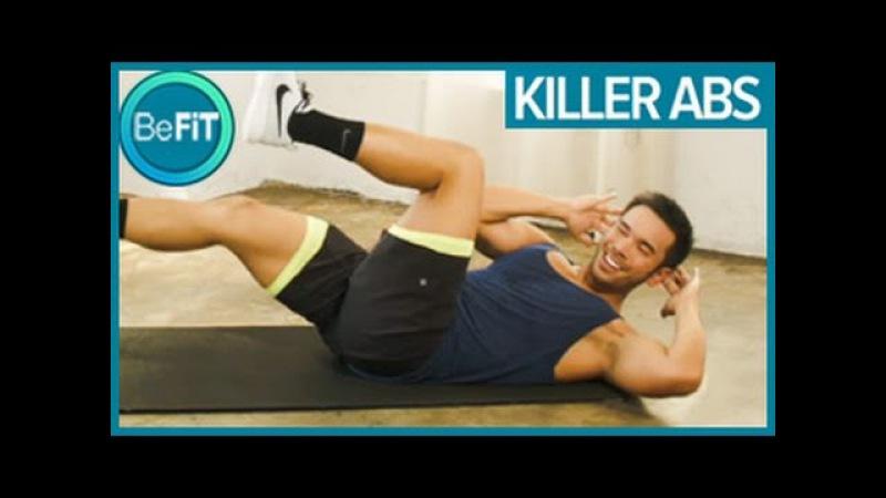 Mike Donavanik Killer Abs Workout Тренировка кора на полу