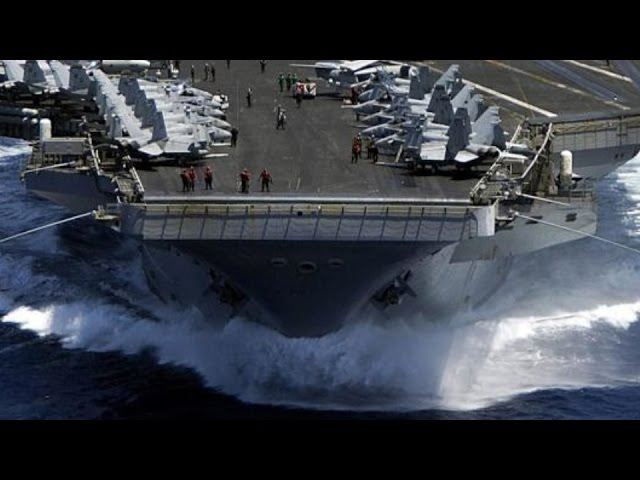 AMERICA STANDS READY! Supercarrier catapult-launches/FLIGHT OPERATIONS continue off California.