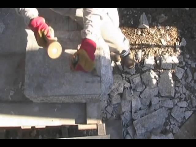 Еще один пример долбежки гранита - Another example swotting granite
