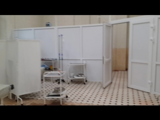 4х-местный родзал на 3 этаже для бесплатных пациенток (снято в конце сентября 2016)