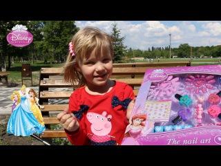 """Disney Princess The nail Art/ Распаковка Диснеевского набора """"Дизайн ногтей"""""""