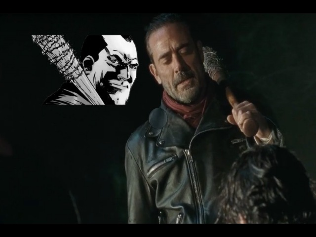 The Walking Dead S6E16 Negan Entrance Comic Show Mashup Last Day On Earth