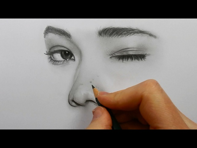 Drawing, shading and blending a minimalistic face with graphite pencils