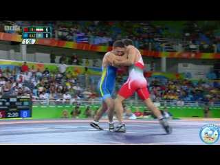 РИО-2016 греко-римская борьба 59 кг утешиловка Хамид Сориан (Иран) - Алмат Кебиспаев (Казахстан)