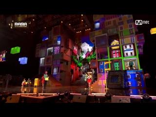 GFriend & Seventeen - Boom Boom + Navillera + Adore U + Very Nice @ 2016 MAMA Mnet Asian Music Awards 161202