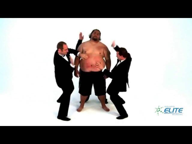 Percusion sobre hombre gordo