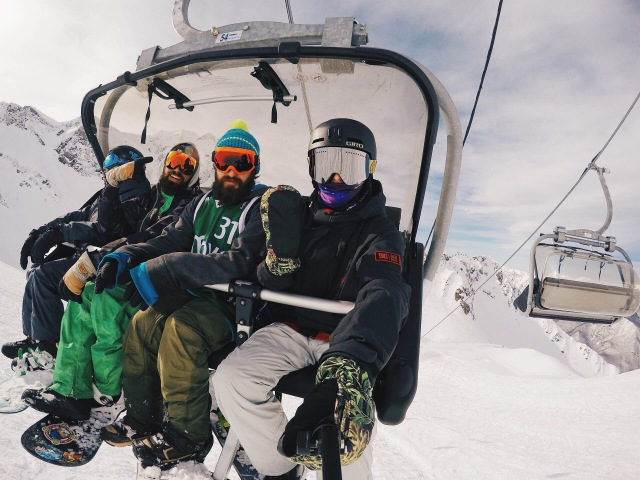 Pavel Dolenko Snowboarding In Sochi Rosa Khutor
