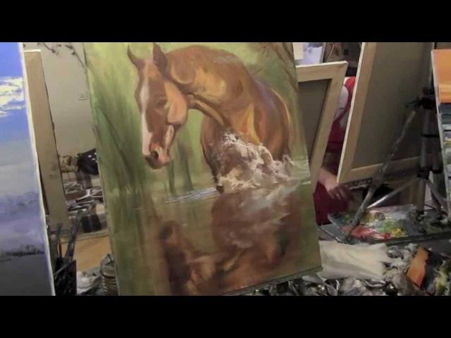 Научиться рисовать лошадь уроки живописи для начинающих художник Сахаров Игорь