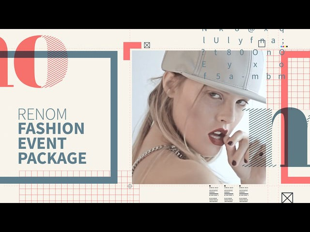 Renom Fashion Event Package After Effects Template