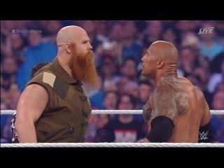 The Rock (Dwayne Johnson) and John Cena Return The WWE WrestleMania 32 2016 Destroy The Wyatt Family