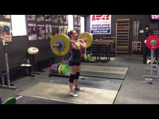 Alyssa Sulay Clean + 2 Jerks 92kg at 63kg Bodyweight