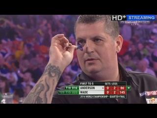Gary Anderson vs James Wade (PDC World Darts Championship 2016 / Quarter Final)