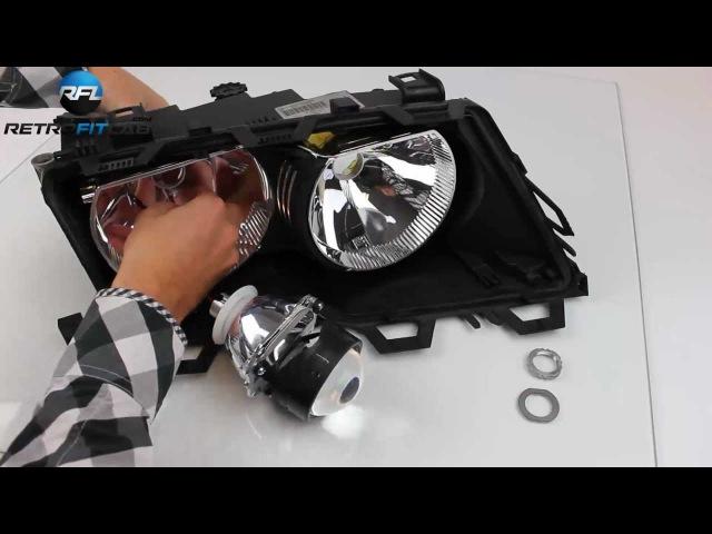 BMW 3 E46 Bi-xenon projector headlight retrofit kit explained